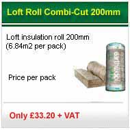 15 pack deal 200mm loft roll (5.93m2 pack) only £250.50+VAT