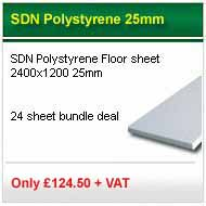 24 sheet deal 2400x1200x25mm SDN polystyrene only £100.00+VAT